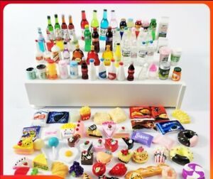 Barbie Doll Play Food Miniature 10 foods and 10 drinks set for doll accessory
