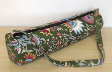Indian Yoga Bag Green Multi Color Printed Mat Carrier Bags With Shoulder Strap