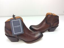 Lucchese Ericka Cognac Brown Cowboy Western Boots Size 9.5 Ankle Bootie