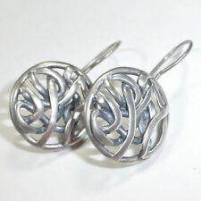 Silpada .925 Sterling Silver Knotted Celtic Earrings Oxidized Woven W1690