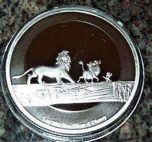 2021 - Niue 1 OZ .999 Fine Silver $2 Disney Lion King Hakuna Matata Coin