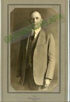 "Antique Photo in Folder - Boulder, Colorado - Palace Studio, Man Standing 14""x7"""