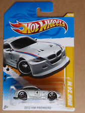 2012 Hot Wheels BMW Z4 M 18/247 Premiere INTERNATIONAL CARD White
