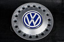 "Genuine 16"" Alloy Wheel Center Hub Silver White Blue Cap x1 VW New Beetle 99-05"