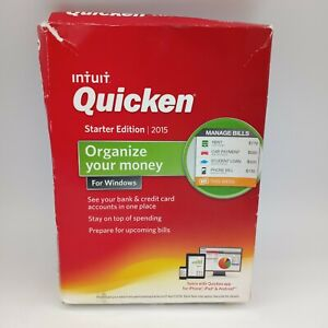 Intuit Quicken 2015 Starter Edition For Windows - New Sealed Damaged Box