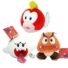 3 PCS Super Mario Bros Boo Ghost & Goomba Plush & Flying Fish Stuffed Toy Gift