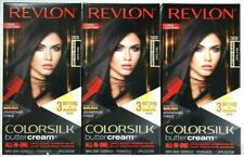 (3) Revlon 28DV Violet Black Vivid Hair Color Ammonia Free Colorsilk Buttercream