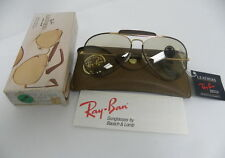 New Vintage B&L Ray Ban Leathers Outdoorsman II L1649  Brown Changeable 62mm USA