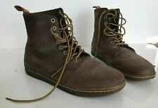 Doc Dr Martens Brown Leather Boots Mens US 10 Mint Condition
