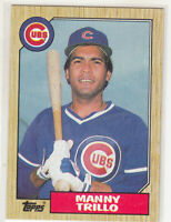 MANNY TRILLO 1987 Topps #732 Chicago Cubs Error Variation Oddball Blank Back