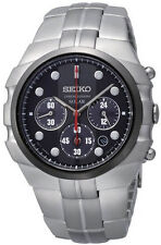 BRAND NEW SEIKO SSC089 Solar Diver's Chronograph Stainless Steel Watch