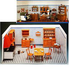 Omas Puppenküche um 1900 Bastelbogen Bausatz J. F. Schreiber 1:12 viel Zubehör