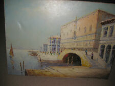 "Doge's Palace in Venice, by Ricco Azzuro, oil on canvas painting 24"" x 20"""