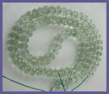 AA++ 7MM GLISTENING GREEN AMETHYST MICRO-FACETED ROUNDELS