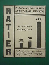 1/1936 PUB HELICE RATIER A PAS VARIABLE EN VOL USINE FIGEAC MONTROUGE AD