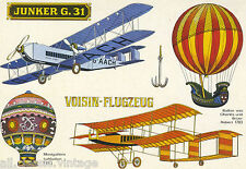 Postcard 620 - Aircraft/Aviation Junker G. 31 Voisin-Flugzeug
