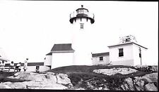 VINTAGE PHOTOGRAPH 1939 EASTERN POINT LIGHTHOUSE GLOUCESTER MASSACHUSETTS PHOTO