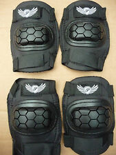 Elbow & Knee pad Set BMX MTB Bike Cycle Skateboard Scooter Blading Pads NEW