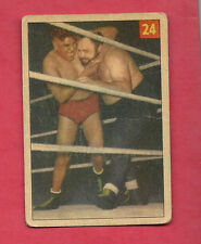 1954-55 PARKHURST # 24 BIG BEN MORGAN  WRESTLING CARD