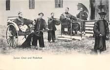 CHINA, SEDAN CHAIR & RICKSHAW WITH DRIVERS & PASSENGERS, STERNBERG PUB c 1904-14