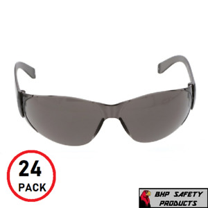 24 Pack of Tinted Safety Glasses (24 Protective Shaded Safety Goggles) UV Resist
