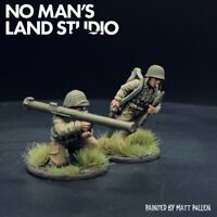 Pro Painted WW2 28mm US Bazooka Team - Warlord Games - Bolt Action