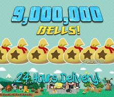 ANIMAL CROSSING NEW HORIZONS 9 MILLION BELLS! 24 HOUR DELIVERY! ACNH