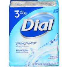 Dial Antibacterial Soap Bars, Spring Water, 4 oz bars, 3 ea