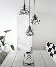 Geometric 3 Diamond Cage Cluster Kitchen Pendant Hanging Light Polygon Shades