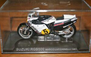 MARCO LUCCHINELLI SUZUKI RG500 1981 1:24 IXO Motorbike - Rare