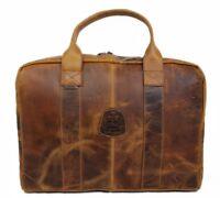 Damen Leder Tasche Business Laptoptasche 15.6 Zoll Schultertasche Umhängetasche