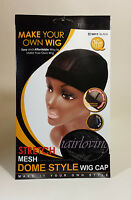 QFITT MAKE YOUR OWN WIG STRETCH MESH DOME STYLE WIG CAP #5011 BLACK WIG CAP
