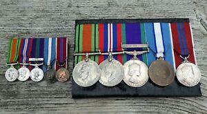 WW2 & LATER - MOUNTED MEDAL GROUP & MINIATURES - CAPTAIN R.J. STIPLING R.E.M.E.