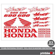 KIT STICKER ADESIVO HONDA HORNET 600 STICKERS ADESIVI HORNET600 ROSSO