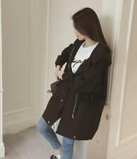Korean Style Women Hooded Jacket Loose Sun Protection Coat Girls Black USM Ske15