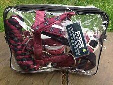 ProTack Deluxe Headcollar and Lead Rope Set Burgundy/black COB