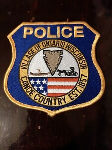 Ontario Wisconsin Police Sheriff Patch