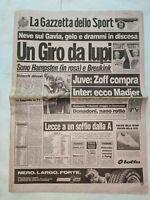 GAZZETTA DELLO SPORT 6-6-1988 LECCE-CATANZARO 2-0 BARLETTA-GENOA 1-0 ATALANTA