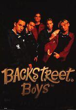 MUSIC POSTER~Backstreet Boys Group In Black Original BSB Full Size Print OOP~New