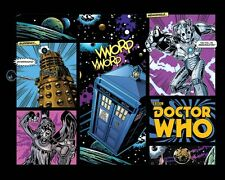 *NEW* Dr Doctor Who Retro Comic Layout BBC Poster - Tardis Dalek Cyberman Angel