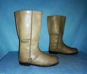 Boots PALLADIUM Leather Khaki Clear Size 37 Fr