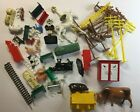 Vintage Mixed Lot Model Railroad Poles People Livestock Cow Car Train Outhouse