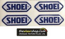 4 x Gel Type Non Fade Pair SHOEI Blue Motorcycle Helmet Visor sticker