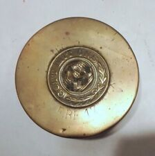 Vintage Wwi German Army Brass Wwi Artillery Shell Trench Art Paperweight