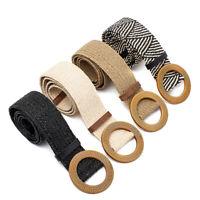 Cintura nel Paglia con Cintura Larga Intrecciata Femminile Vintage con Fibb A2M2
