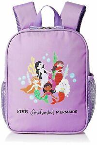 Kids Mermaid Backpack Pre School Bag Girls - Toddlers Book Bag -Purple-12 inch