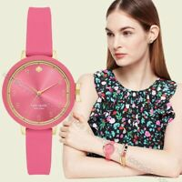 NWT in Box 🌸 Kate Spade NY KSW1518 Park Row Pink Silicone Band 34mm Watch