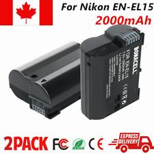 2× 2000mAh EN-EL15 ENEL15 Replacement Battery For Nikon D7100 D800 D800E D600