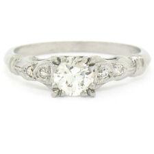 Antique Art Deco Platinum 0.47ctw Old European Diamond Solitaire Engagement Ring