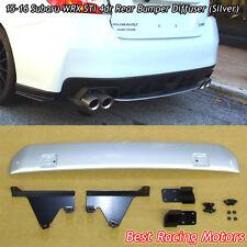 Rear Bumper Diffuser (Silver) Fits 15-18 Subaru WRX STi 4dr
